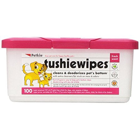 PETKIN<br> 100 Tushie Wipes