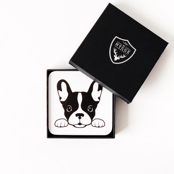 HYGGE: Frenchie Coasters<br> Set of Four