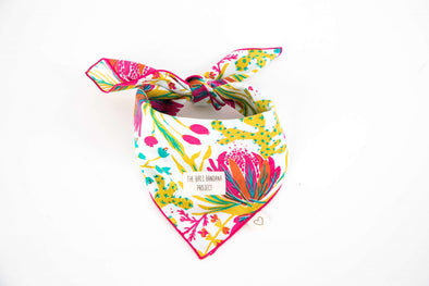 The Cactus Dessert <br> Lime & Hot Pink <br>The Bandana Love Project