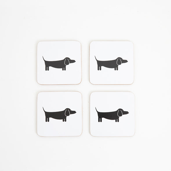 HYGGE: The Dapper Dachshund Coasters <br> Set of Four