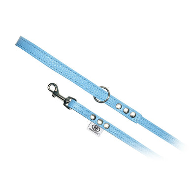 BUDDY BELT:<br>All Leather Leash<br>Blue