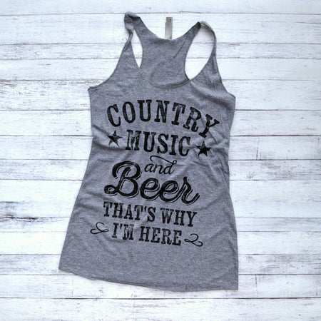 850d06415834eb I d Rather Be Topless Jeep Tank Top · Country Music and Beer That s Why I m  Here Tank Top