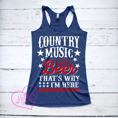 f90ab024b35de6 I d Rather Be Topless Jeep Tank Top. Country Music and Beer That s Why I m  Here Tank Top