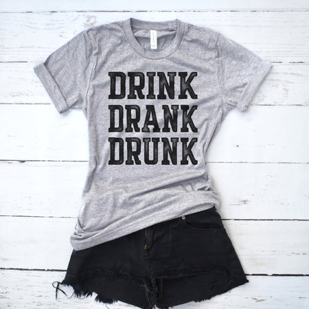 bfd151c6d9d3e Drinks Well With Others Muscle Tank Top. Drink Drank Drunk Shirt
