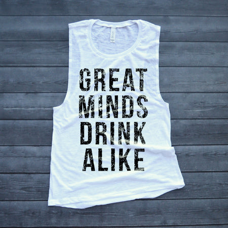 98892340487a00 Drinks Well With Others Muscle Tank Top – HotteesCo