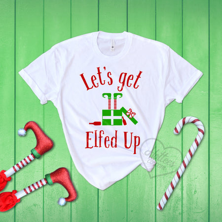 Lets Get Elfed Up Christmas Sweater Hotteesco