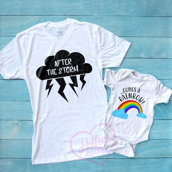 bbd884197734d Rainbow Baby Mommy and Me Matching Shirts