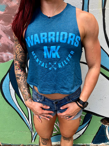 MKW Racerback Crop in Teal