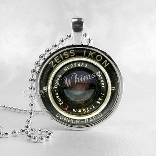 antique photo jewelry camera vintage necklace products necklaces collections il glass fullxfull art photographer lens photography