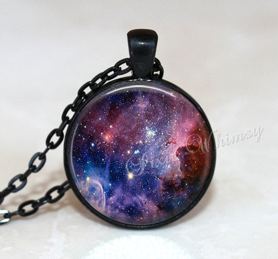 CARINA NEBULA Necklace, Nebula Pendant, Galaxy Necklace, Galaxy Pendant, Space Necklace, Universe Pendant, Nebula Keychain, Galaxy Jewelry