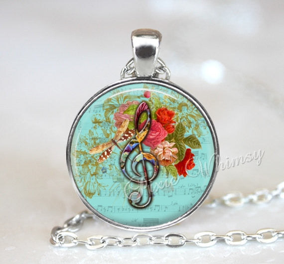 TREBLE CLEF Necklace, Treble Clef Pendant, Clef Jewelry, Clef Keychain, Music Necklace, G Clef  Necklace, Music Pendant, Music Teacher Gift