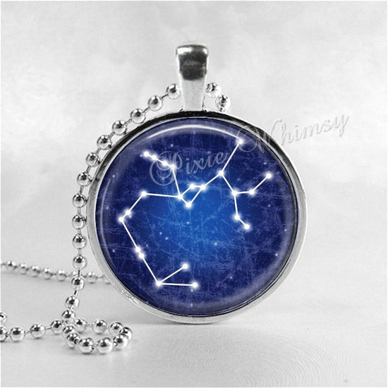SAGGITARIUS Zodiac Pendant Necklace, Sign Jewelry, Astrology, Constellation, Star Sign Necklace, Zodiac Necklace Galaxy Celestial
