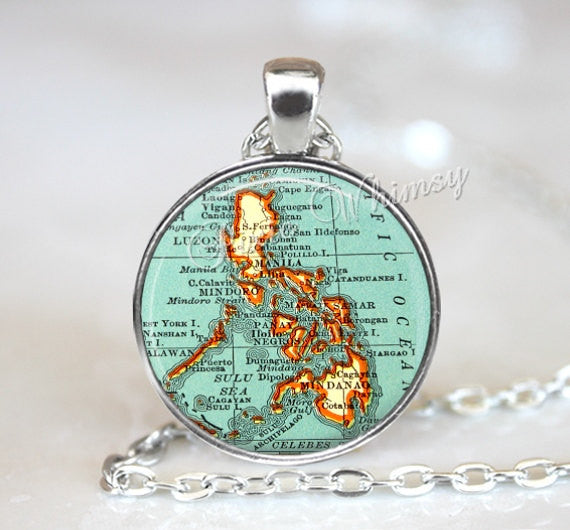 PHILIPPINES MAP Necklace, Philippines Pendant, Philippines Map Pendant, Philippines Keychain, Philippines Necklace, Philippines Jewely