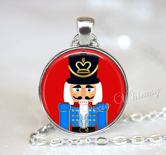 CHRISTMAS Nutcracker Necklace Pendant Jewelry or Keychain Vintage Christmas Retro Christmas Holiday Red
