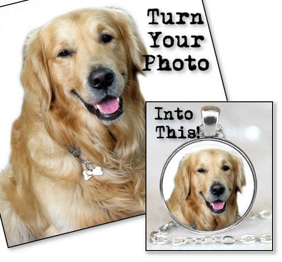 CUSTOM PET PHOTO Pendant Necklace, Custom Photo Jewelry, Personalized Photo Pendant, Pet Memorial, Keepsake Jewelry, Custom Photo Keychain