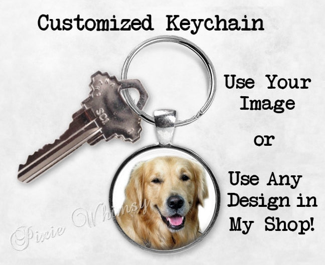 PERSONALIZED KEYCHAIN, Custom Keyring Key Chain Custom Keyring Key Chain Fob, Party Favor Wedding Party Gift, Gifts Under 10, Use Your Image
