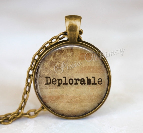 DEPLORABLES Pendant Necklace Keychain, Basket of Deplorables, The Deplorables, Election Jewelry, Presidential Election 2016, MAGA, Trump
