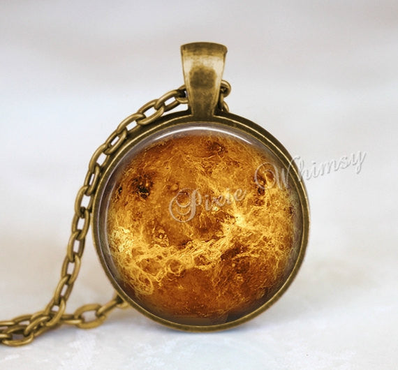 VENUS Necklace Pendant Jewelry Keychain Planet Space Science Galaxy Universe Constellation Astronomy Astronomer