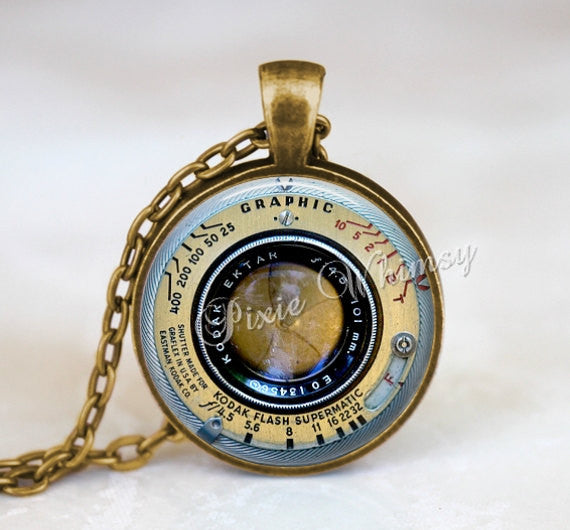 CAMERA LENS Necklace Pendant Keychain Jewelry Photography Vintage Camera Necklace Pendant Jewelry Gift for Photograper Photo Art