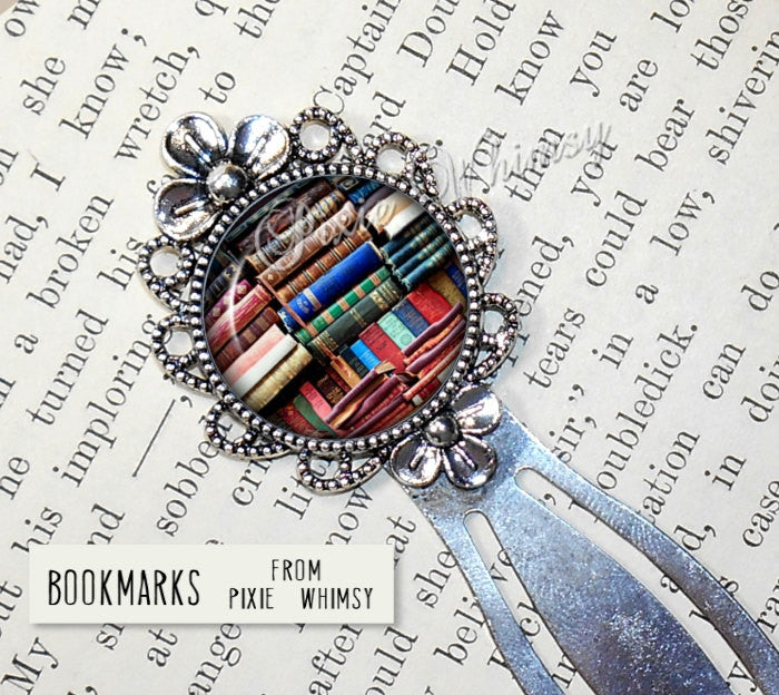 BOOK LOVER Bookmark Bookshelf Library Bookcase Reading Gift Librarian Book Lover Nerd Literary Book Club Accessory Silver Bronze Metal