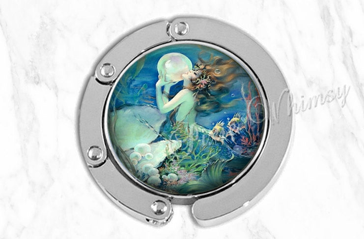 MERMAID Purse Hook Hanger Holder Nautical Sea Siren Nymph Art Bag Hook Purse Accessory Handbag Tote Bag Hanger Bridesmaid Gift Party Favor