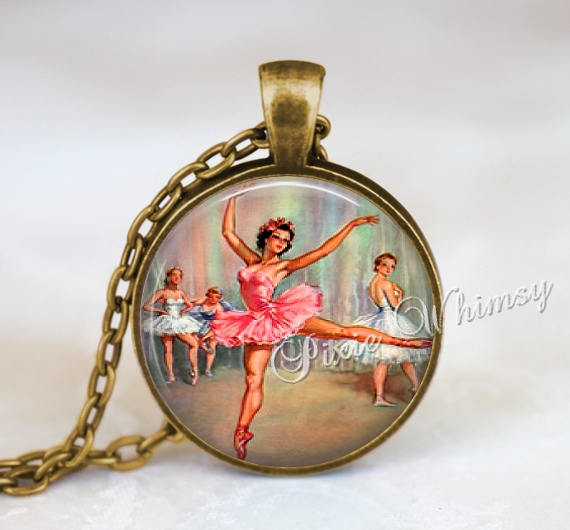 BALLET DANCER Jewelry Pendant Necklace Keychain Dancer Dancing Vintage Ballet Art Dance Jewelry Gift for Ballerina Dancer Theatre