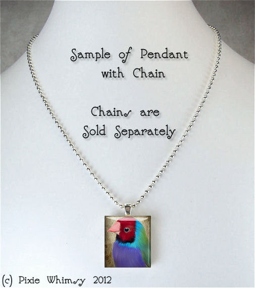 BOOK CHICK Scrabble Tile Altered Art Pendant Charm Jewelry