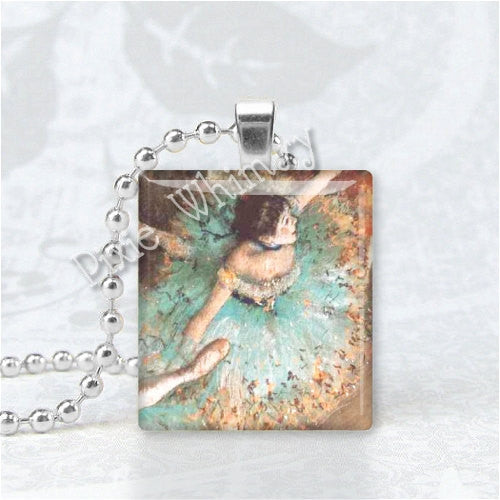BALLET DANCER Scrabble Tile Altered Art Pendant Charm