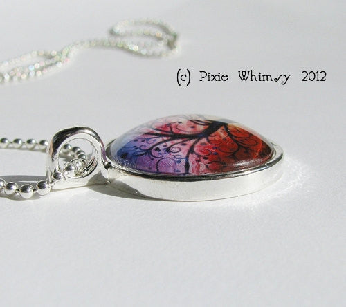 LOVE Inspirational Word Necklace, Inspirational Jewelry, Love Pendant, Glass Photo Art Pendant Necklace
