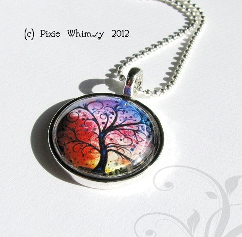BRAIN NECKLACE Anatomy Jewelry Round Glass Bezel Pendant with Free 24 Inch Necklace Chain
