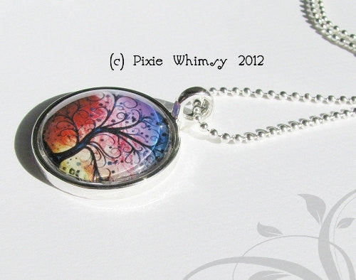 PHOENIX ARIZONA, Tempe, Glendale, Vintage Map Jewelry Glass Bezel Pendant with Free 24 Inch Necklace Chain