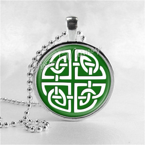 Celtic Knot Necklace Pendant Art Jewelry with Ball Chain, Celtic Knot Jewelry