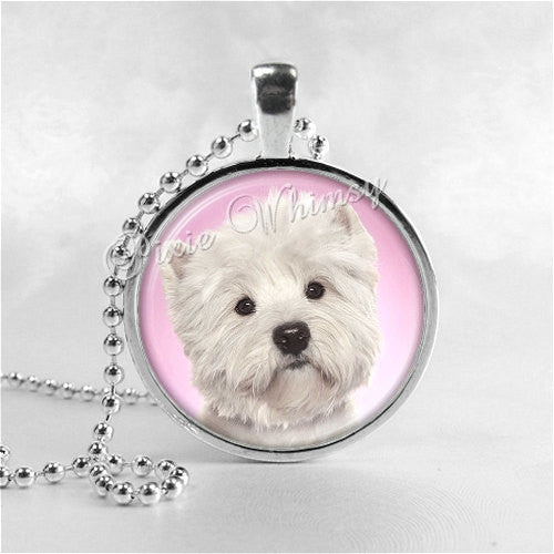 WEST HIGHLAND White TERRIER Dog Necklace,  Westie Necklace, Photo Art Pendant Jewelry, Dog Necklace, Dog Breed Jewelry