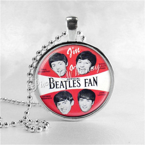 BEATLES Necklace Art Pendant Jewelry Charm, Vintage Beatles Necklace, Beatles Jewelry, Beatles Pendant, Rock N Roll Music