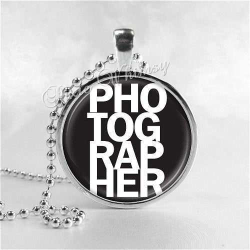 PHOTOGRAPHER Necklace Pendant Jewelry, Gift for Photographer Photo Art Pendant Jewelry Charm, Photography Necklace, Camera