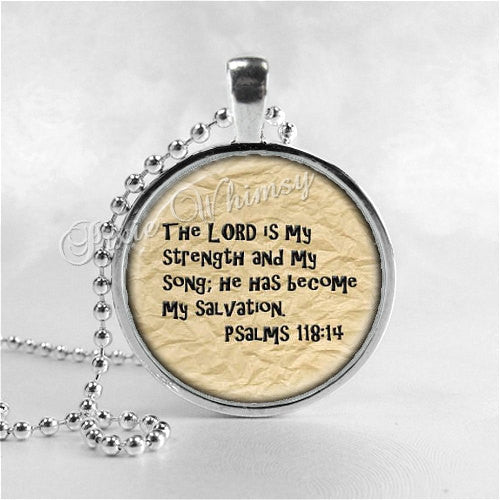 BIBLE SCRIPTURE QUOTE Necklace, Christian Jewelry, Inspirational Jewelry, Glass Photo Art Necklace, Religious Jewelry