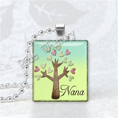 NANA Pendant, Grandma, Grandmother, Granny, Scrabble Tile Art Pendant Charm Jewelry