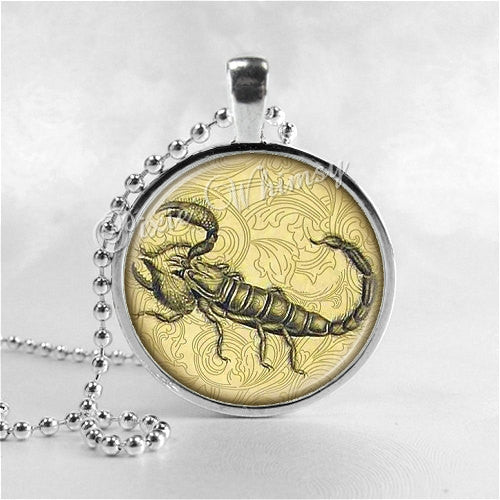 SCORPION Necklace, Scorpion Pendant, Scorpion Jewelry, Scorpion Charm, Glass Photo Art Necklace Pendant