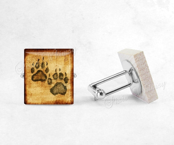 ANIMAL CLAW Scrabble Tile Cufflinks, Claw Cuff Links, Animal Cufflinks, Animal Paw, Animal Cuff Links, Mens Accessories, Gifts For Men