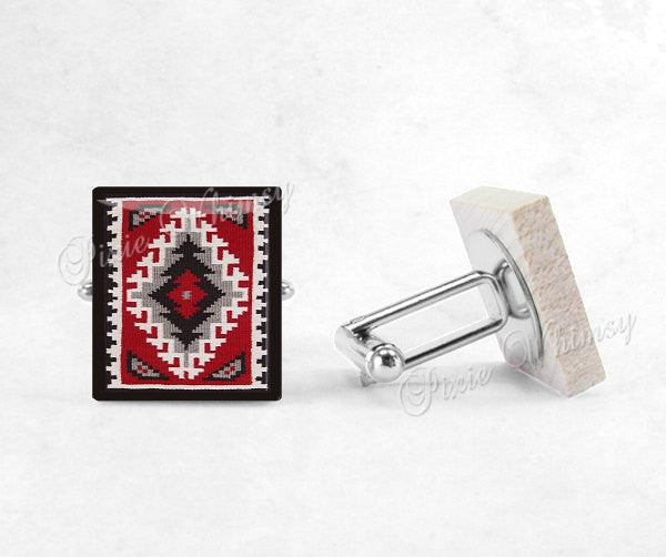 SOUTHWESTERN Scrabble Tile Cufflinks, Southwestern Style Cuff Links, Southwestern Design, Tribal, Mens Accessories, Gifts For Men