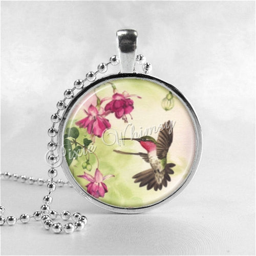 HUMMINGBIRD Necklace, Hummingbird Pendant, Hummingbird Jewelry, Bird Necklace, Bird Pendant, Hummingbird Charm, Photo Art Necklace Pendant