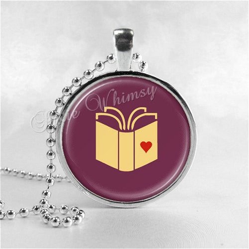 BOOK LOVERS Necklace, Writer, Author, Book, Reading, Saying Necklace Pendant, Read, Book Lover Jewelry, Book Nerd, Librarian, Library