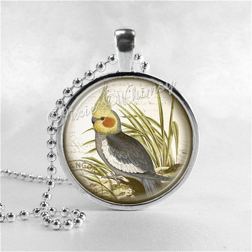 COCKATIEL BIRD Necklace, Cockatiel Jewelry, Parrot Jewelry, Parrot Necklace, Cockatiel Jewelry, Bird Necklace, Cockatiel, Pet Bird