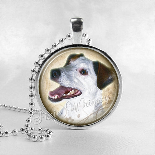 JACK RUSSELL TERRIER Necklace, Dog Jewelry, Dog Pendant, Dog Charm, Glass Bezel Photo Art Necklace Pendant