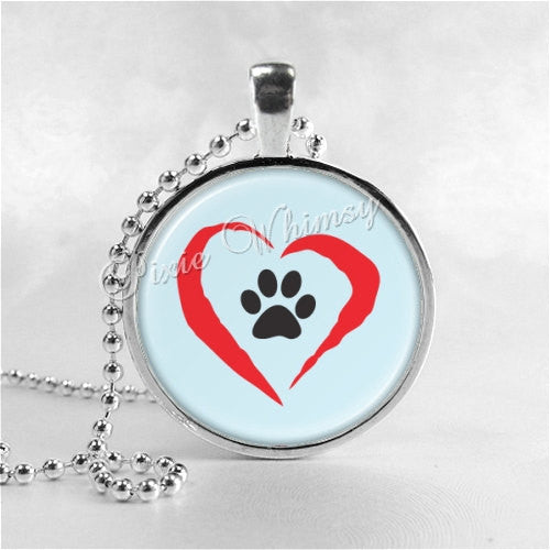 ANIMAL RESCUE Necklace, Animal Lovers, Heart, Paw, Humane, Animal Rescue, Animal Adoption, Dog Rescue, Cat Rescue, Pet Adoption, Pet Rescue