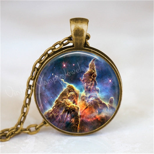 CARINA NEBULA Necklace, Nebula Pendant, Outer Space, Galaxy, Planet, Universe, Constellation, Glass Photo Art Pendant Necklace
