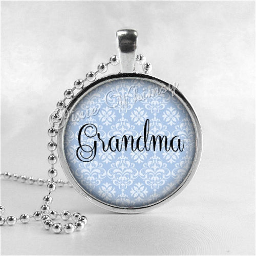 GRANDMA Pendant, Grandma Necklace, Grammy, Nana, Grandmother, Granny, Glass Art Pendant, Mothers Day