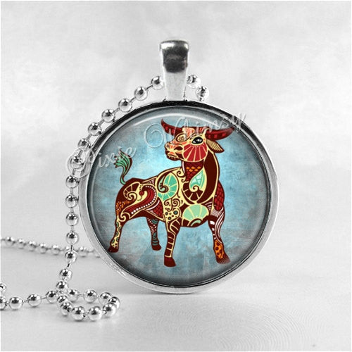 TAURUS Necklace, Taurus Pendant, Taurus Jewelry, Astrology, Zodiac, Constellation, Star Sign, Zodiac Necklace,  Horoscope Necklace