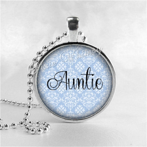 AUNTIE Pendant, Auntie Necklace, Auntie , Auntie Necklace, Aunt,  Glass Art Pendant, Gift for Aunt, Aunt Necklace, Aunt Pendant