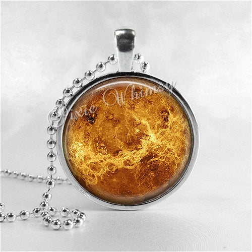 VENUS Necklace, Venus Pendant, Venus Jewelry, Planet Necklace, Space Necklace, Planet Jewelry, Science, Galaxy, Universe, Constellation